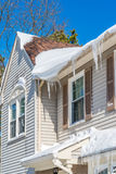 Icicles on roof Royalty Free Stock Photo