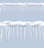 Icicles, seamless vector Royalty Free Stock Photography