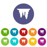 Icicles set icons Stock Image