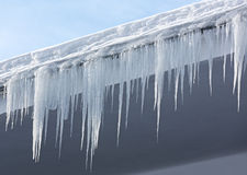 Icicles and snow Stock Photos