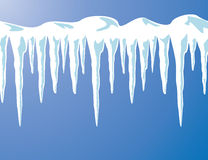 Vector icicles and snow Royalty Free Stock Images