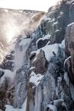 Icicles on Timberline Falls waterfall Stock Photography