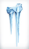 Icicles vector icon Stock Image