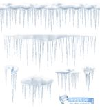Icicles vector illustration Royalty Free Stock Images