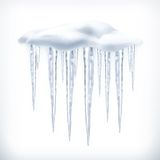 Icicles vector object Stock Photos