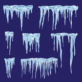 Icicles, vector set illustration for your design Stock Photos