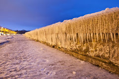 Icicles on Wall Stock Photography