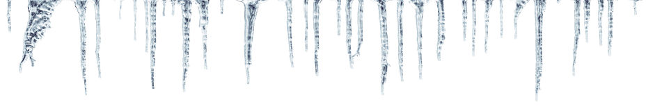 Icicles which are hanging down from a roof stock illustration