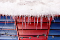Icicles which are hanging down Royalty Free Stock Images