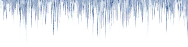 Icicles on white background vector illustration