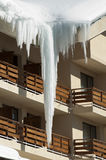 Icicles on window Royalty Free Stock Photography