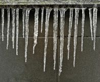 Icicles, winter, uneven, ice, cold Royalty Free Stock Photography
