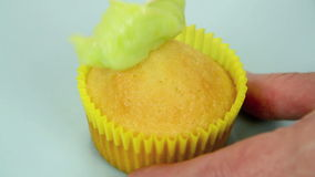 Icing Cup Cakes 2 stock footage