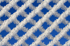 Icing Fence. Close - up of icing fence Royalty Free Stock Photography