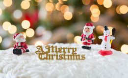Free Icing On Christmas Cake With Tree Lights Stock Photo - 28334950