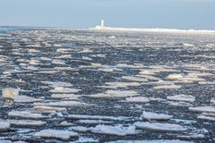 Icing sea. Outside was cold -15degress in Latvia, bolderaja breakwater Royalty Free Stock Image