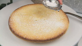 Icing Sugar On Apple Pie stock video footage