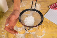 Icing sugar on cookies Stock Image