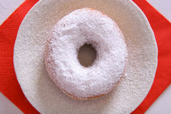 Icing sugar donut Stock Photo