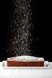 Icing sugar falling Royalty Free Stock Image