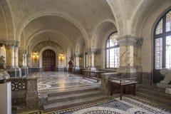 ICJ Hall principal du palais de paix, la Haye photographie stock libre de droits