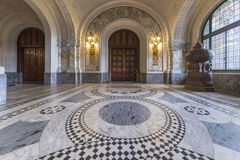 ICJ Main Hall of the Peace Palace, The Hague stock images