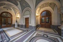 ICJ Main Hall of the Peace Palace, The Hague stock photo