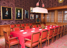 ICJ Red Room International Court of Justice Royalty Free Stock Image