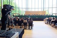 ICJ Rendering Decision at Academy Auditorium stock photography