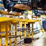 Ickup lastbilproduktionslinje Arkivbilder