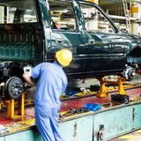 Ickup truck production line Royalty Free Stock Images