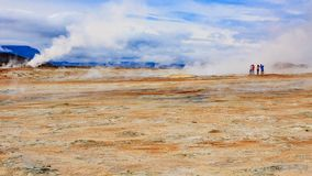 Hverir - Iceland Nature - the volcanic zone stock photography