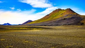 Iceland nature - colorful vulcanic mountains royalty free stock photos