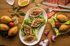 Icli kofte/γεμισμένο κεφτές falafel Στοκ Φωτογραφίες