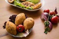 Icli kofte/γεμισμένο κεφτές falafel Στοκ εικόνα με δικαίωμα ελεύθερης χρήσης