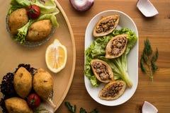 Icli-kofte/angefüllter Fleischklöschen Falafel stockfoto