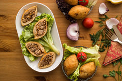 Icli-kofte/angefüllter Fleischklöschen Falafel lizenzfreies stockbild