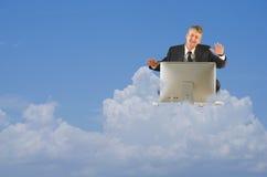 Icloud de stockage de travail de technologie informatique de nuage Image libre de droits