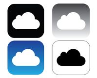 ICloud icons collection, icloud vector set. Isolated over white background. Cloud icon in a box illustration Royalty Free Stock Photography
