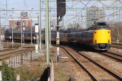 ICM intercity τραίνο Koploper στο trainstation της Χάγης Laan van NOI στις Κάτω Χώρες στοκ φωτογραφία με δικαίωμα ελεύθερης χρήσης