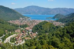 Icmeler-Vorort von Marmaris-beliebtem Erholungsort in der Türkei lizenzfreie stockbilder