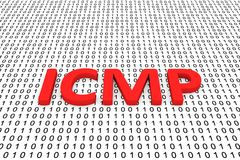 Icmp. In the form of binary code, 3D illustration Stock Photos