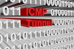 ICMP tunnel. In the form of binary code, 3D illustration vector illustration