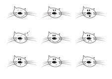Icns di vettore di un fronte sorridente del gatto Immagini Stock Libere da Diritti