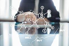 ICO, αρχική προσφορά νομισμάτων Ψηφιακή ηλεκτρονική δυαδική οικονομική έννοια χρημάτων Ανταλλαγή νομίσματος Bitcoin στοκ φωτογραφίες