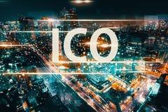 ICO с видом с воздуха токио Стоковое Изображение