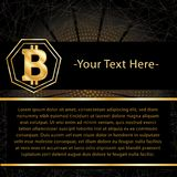ICO and Bitcoin conceptual design Royalty Free Stock Photography