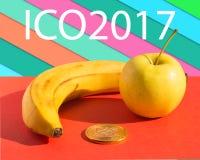 ICO 2017 Comida y finanzas Imagen de archivo libre de regalías