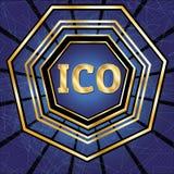 ICO et ensemble de marque Photographie stock