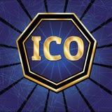 ICO i żetonu set Zdjęcia Stock